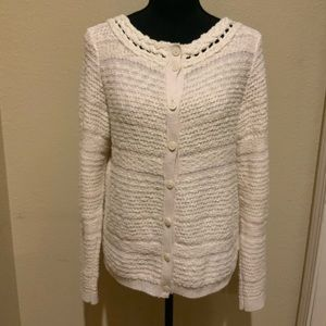 Anthropology Knit Cream Cardigan